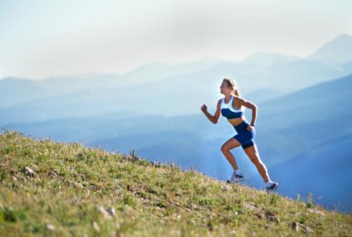 Womanrunningupmountain